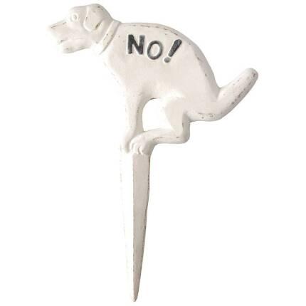 No! Hundehaufen - Verbot Schild creme/weiß