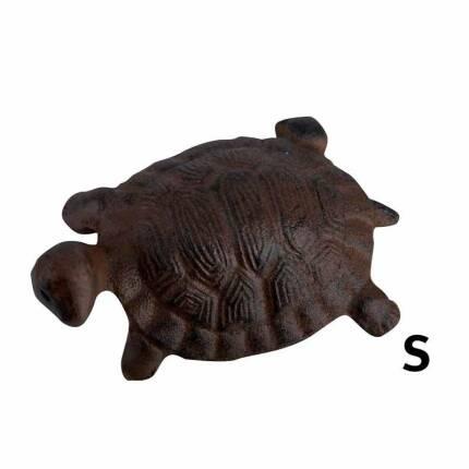 Kleine Schildkröte Gusseisen rostfarben