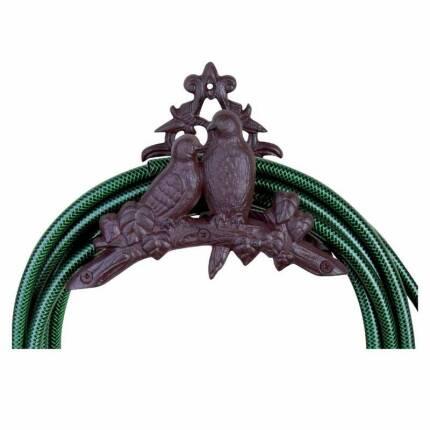 Vogelmotiv Schlauchhalter aus Eisen für Wandmontage