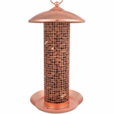 Vogelfutterspender Stahl verkupfert