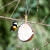 Halbe Kokosnuss mit Talg, Insekten und Mehlwürmern