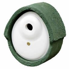 Nistkasten Holzbeton Oval Einflug Ø 32 mm grün