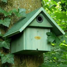 Holznistkasten mit Marderschutz Flugloch wechselbar