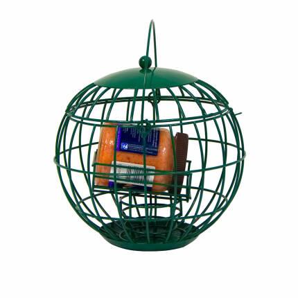 Erdnussbutterhalterung für Gartenvögel mit Futterglas