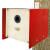 Nistkasten Cube Blech rot
