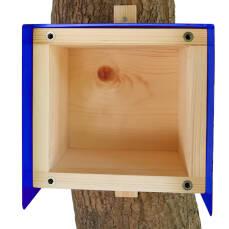 Nistkasten Cube Blech blau
