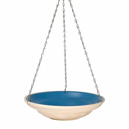 Hängende Wasserschale zweifarbig creme-blau