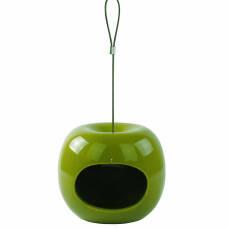 Futterspender Keramik in Apfelform grün