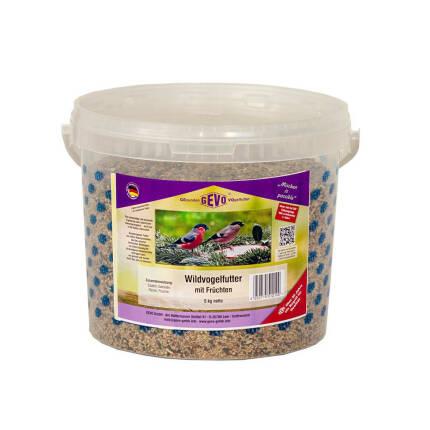 Wildvogelfutter mit Früchten 5 kg Eimer