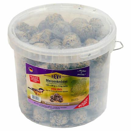 Meisenknödel 100 Stück ohne Netz à 90 g mit Eimer