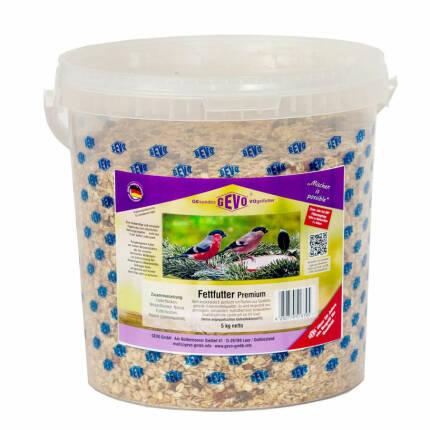 Fettfutter Premium im 5 kg Eimer