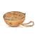 Halbe Kokosnuss mit Mehlwürmern