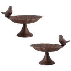 Vogeltränke auf Fuß Gußeisen mit Vogel -...
