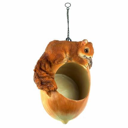 Futterhänger Eichhörnchen für Erdnussbutter