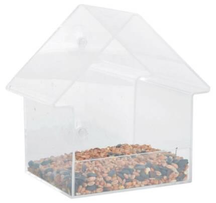 Fensterfutterhaus Acryl mit Saugern inkl. 1 kg Erdnüsse
