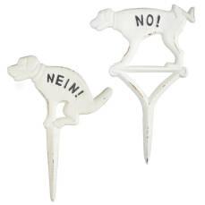 Verbotsschild Kein Hundehaufen oder Kein Hundepinkeln -...