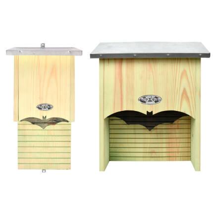 Fledermauskasten mit verzinktem Blechdach
