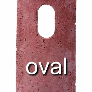 oval 29x55 mm